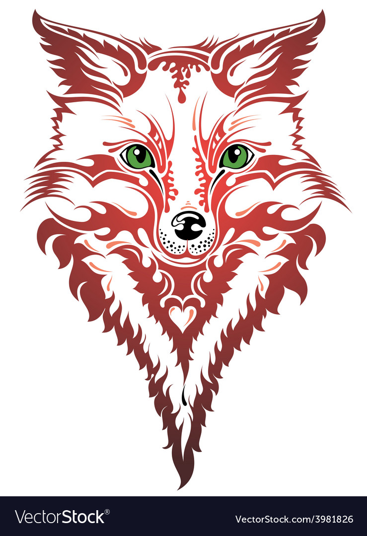 Image of an fox vector | Price: 1 Credit (USD $1)