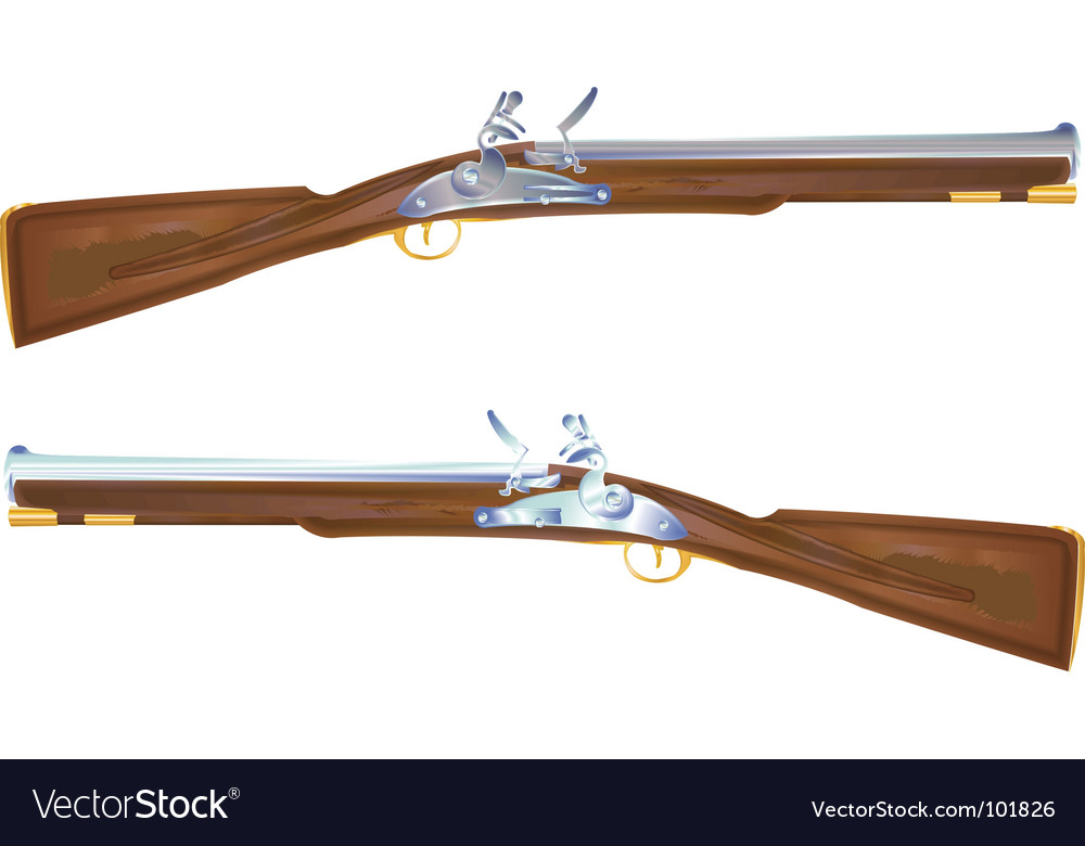 Musket rifle vector | Price: 1 Credit (USD $1)