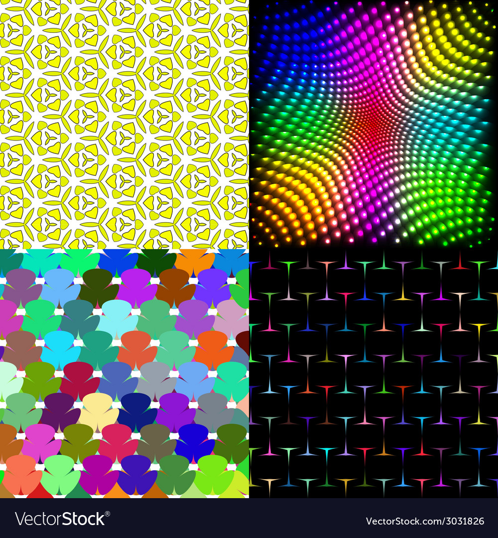 Set of texture many small brightly colored figures vector | Price: 1 Credit (USD $1)
