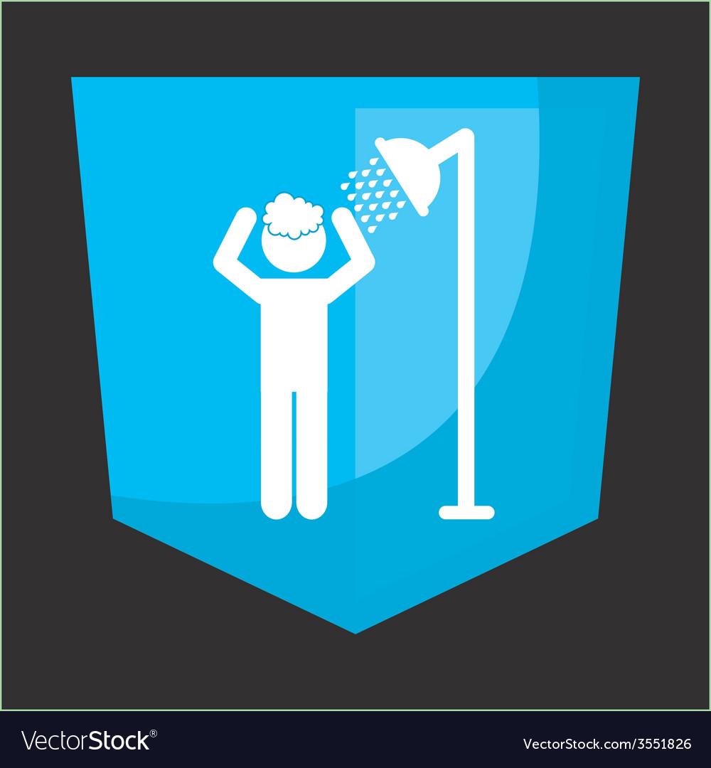 Shower silhouette design vector | Price: 1 Credit (USD $1)