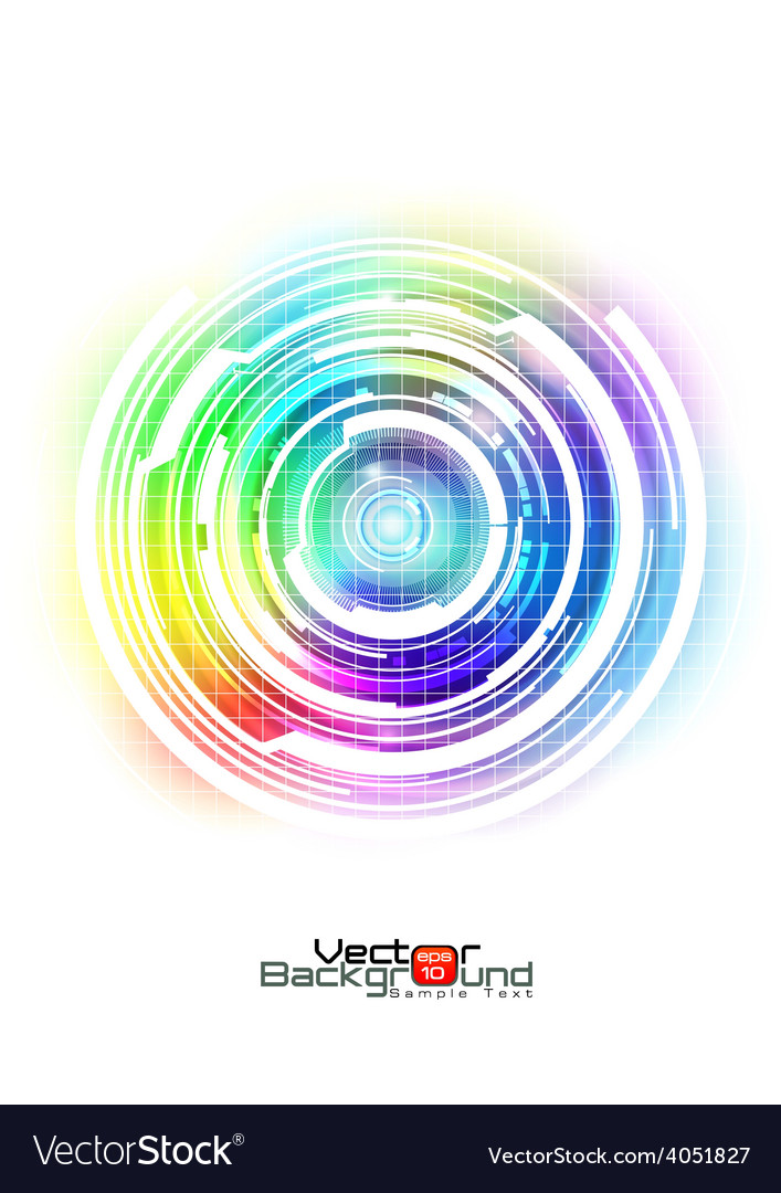 Abstract colorful technology background vector | Price: 1 Credit (USD $1)