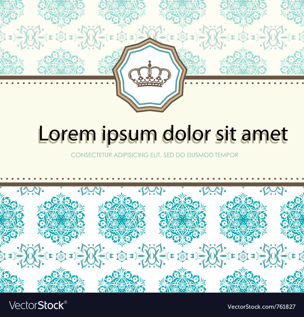 Baroque card vector | Price: 1 Credit (USD $1)
