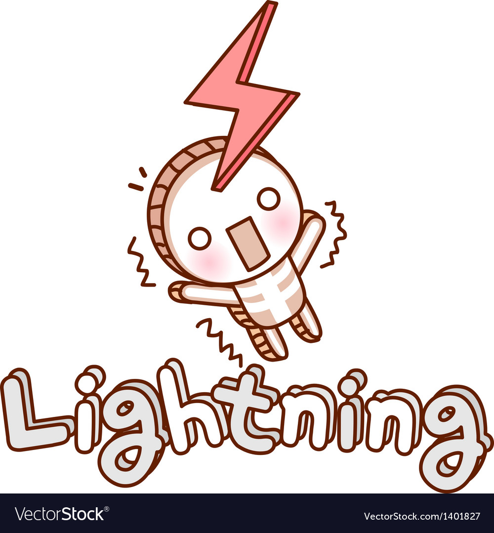 Be struck by lightning vector | Price: 1 Credit (USD $1)