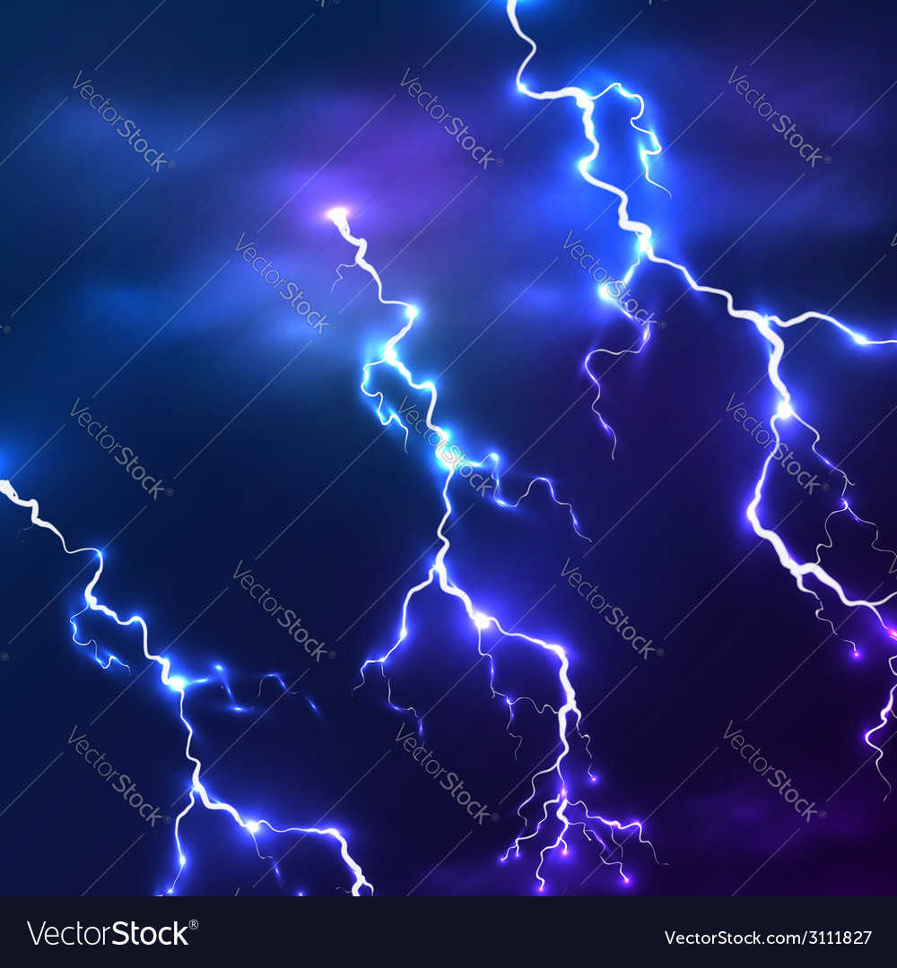 Blue shining lightnings background vector | Price: 1 Credit (USD $1)