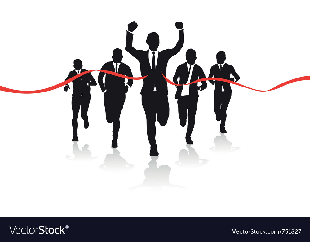 Business runners vector | Price: 1 Credit (USD $1)