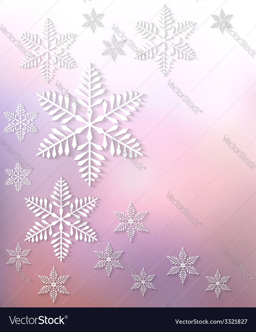 Christmas postcard with snowflakes vector | Price: 3 Credit (USD $3)
