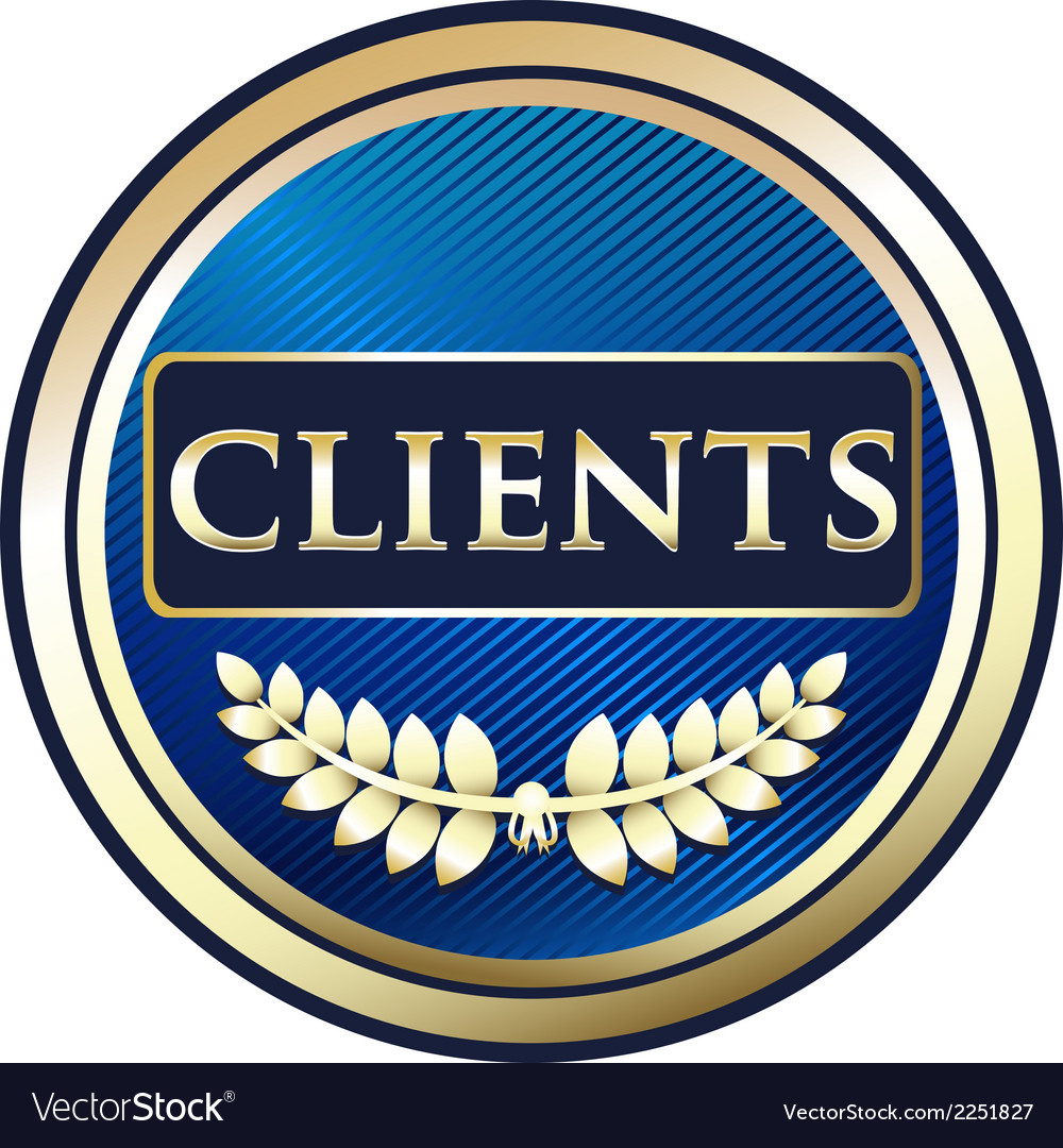 Clients blue label vector | Price: 1 Credit (USD $1)