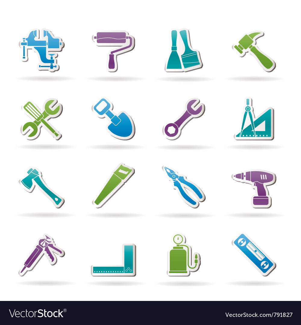Construction work tool icons vector | Price: 1 Credit (USD $1)
