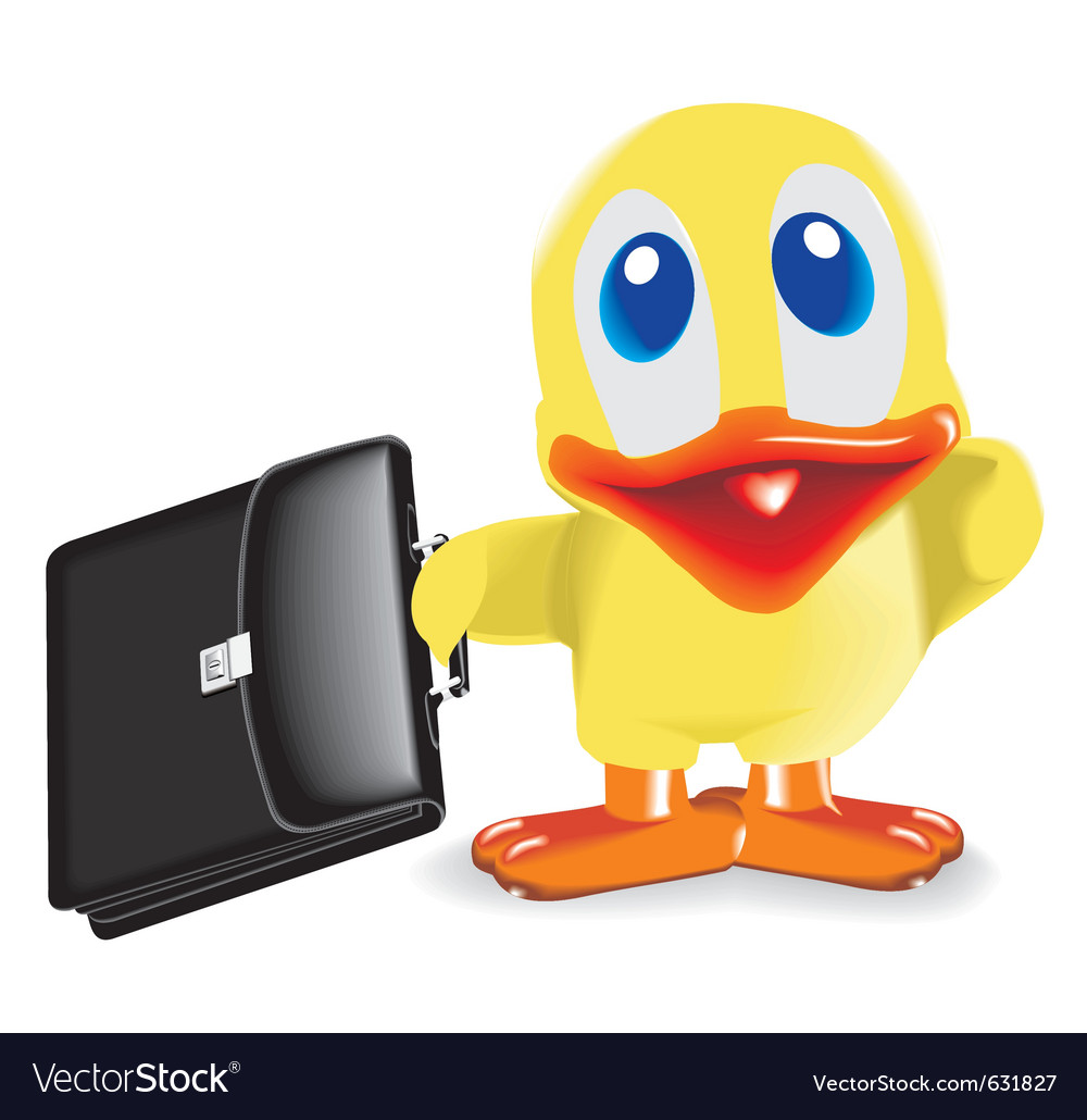 Duck with bag vector | Price: 1 Credit (USD $1)