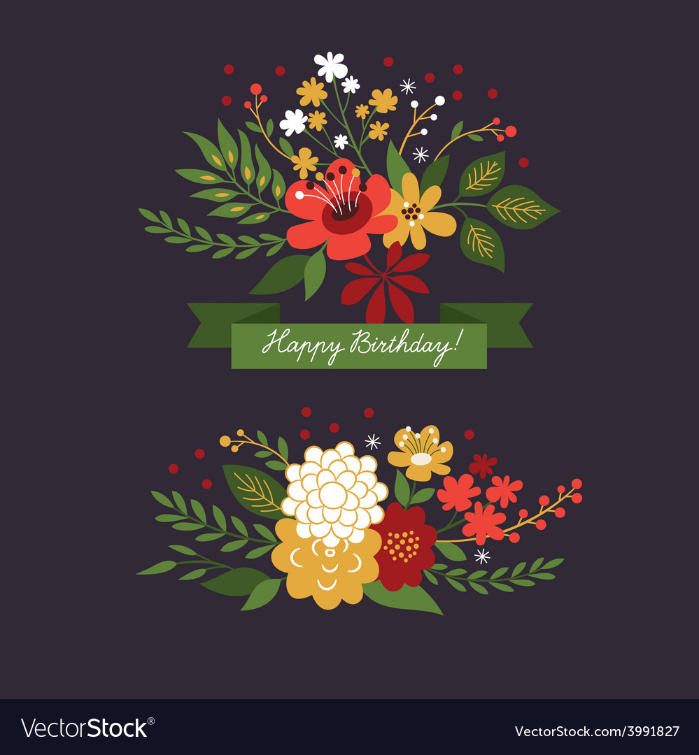 Floral-design-elements-on-the-dark-background-vector