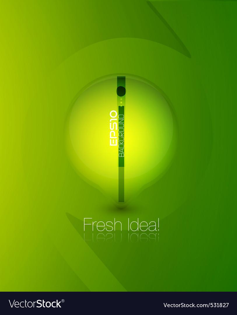 Fresh green background vector