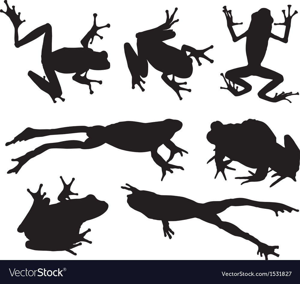 Frog silhouette vector | Price: 1 Credit (USD $1)