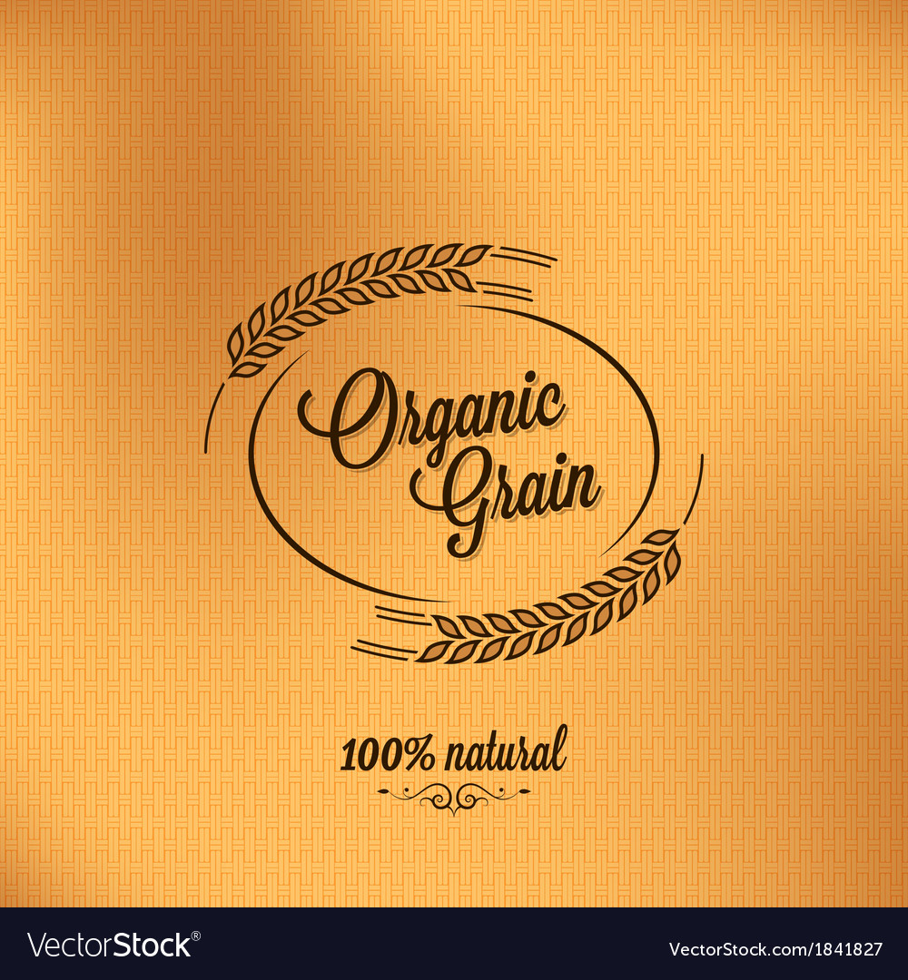 Grain organic vintage design background vector | Price: 1 Credit (USD $1)