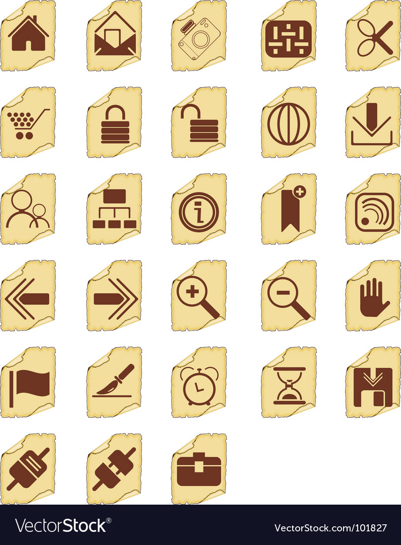 Icon buttons vector | Price: 1 Credit (USD $1)