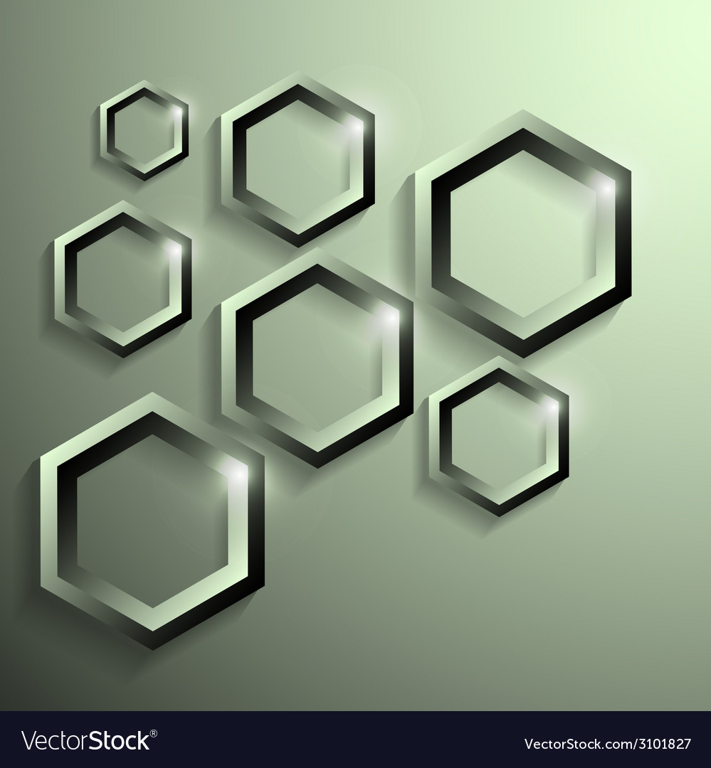 Modern metallic polygonal shape with shadow vector | Price: 1 Credit (USD $1)