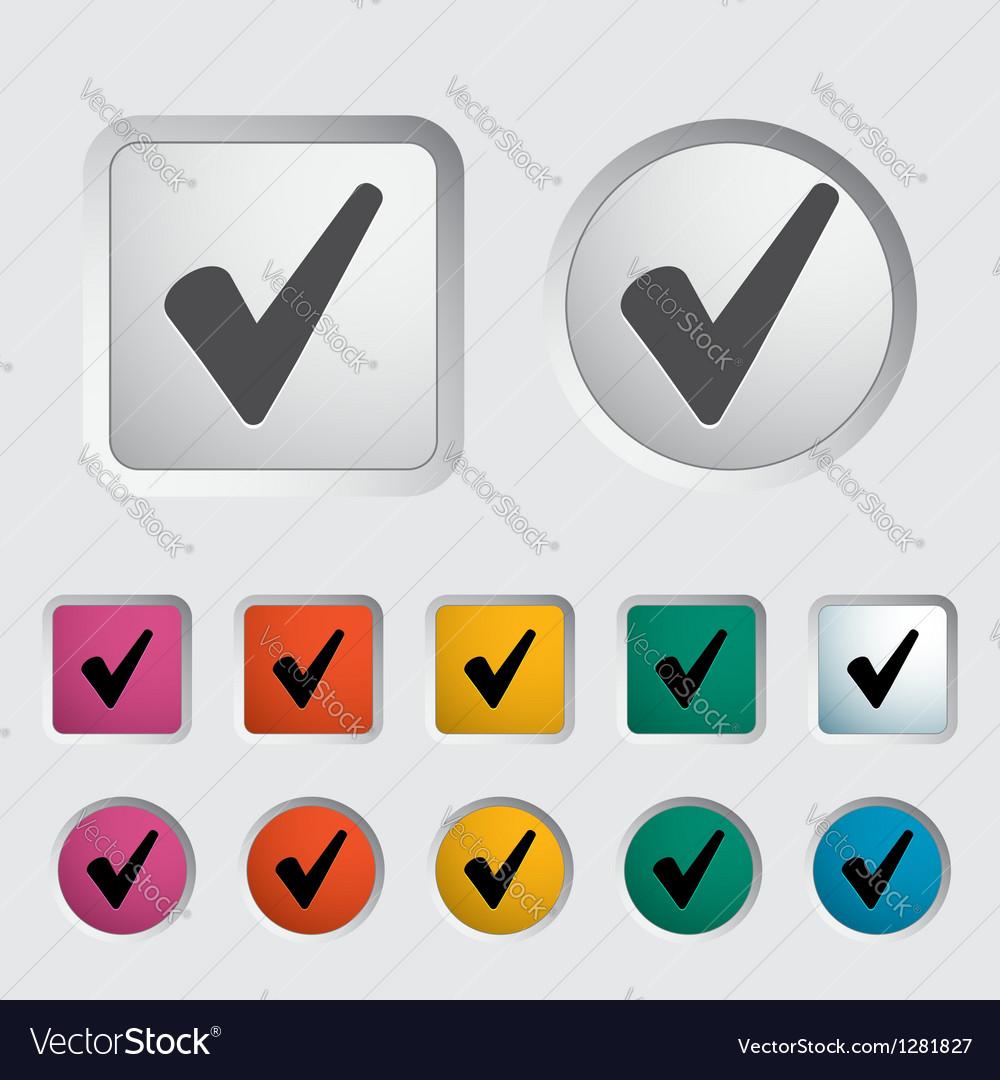 Ok icon vector | Price: 1 Credit (USD $1)