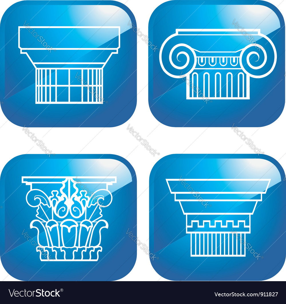 Set of 4 columns vector | Price: 1 Credit (USD $1)