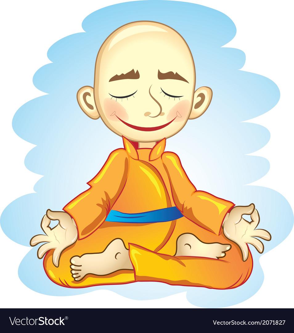 Vecor of joga in meditation vector | Price: 1 Credit (USD $1)