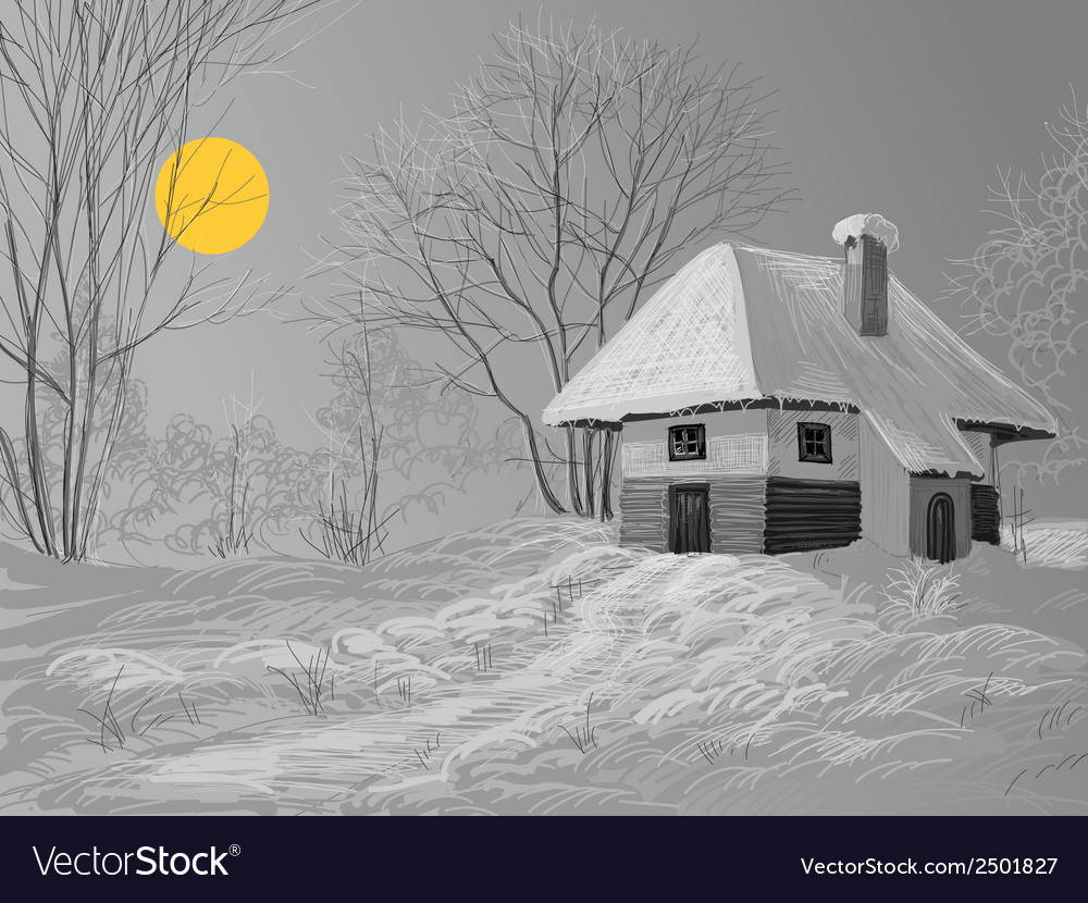 Winter silent night vector | Price: 1 Credit (USD $1)