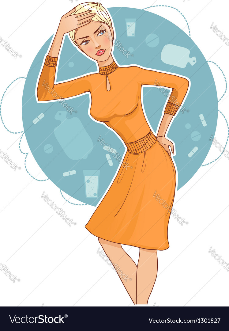 Young woman complaints vector | Price: 3 Credit (USD $3)