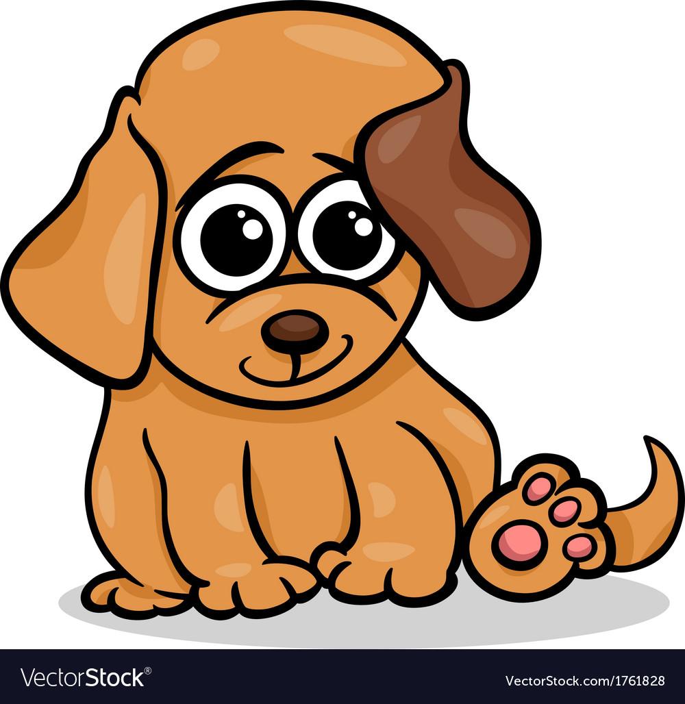 Baby dog puppy cartoon vector   Price: 1 Credit (USD $1)