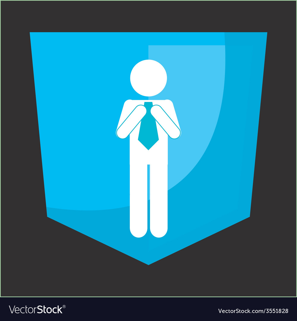 Businessman silhouette vector | Price: 1 Credit (USD $1)
