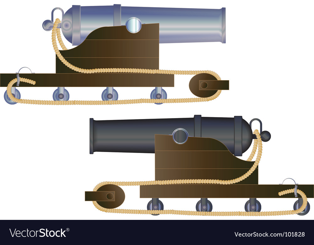 Cannon ship vector | Price: 1 Credit (USD $1)