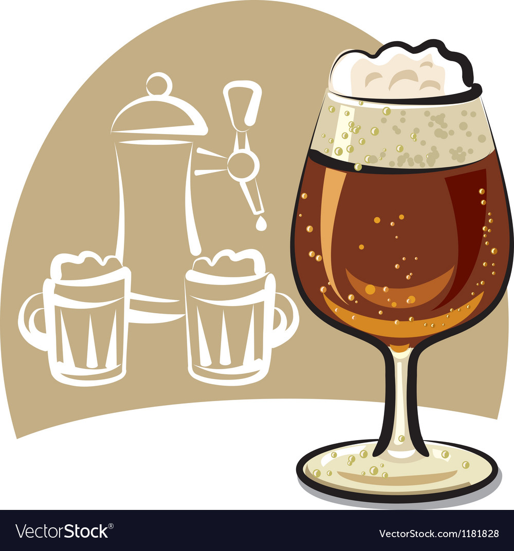 Dark beer vector | Price: 3 Credit (USD $3)