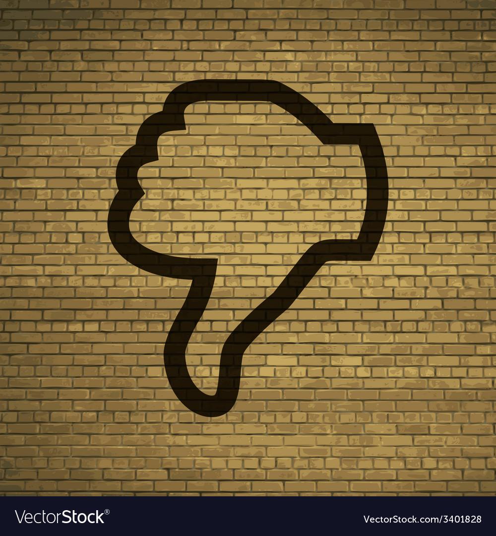 Dislike thumb down icon symbol flat modern web vector | Price: 1 Credit (USD $1)