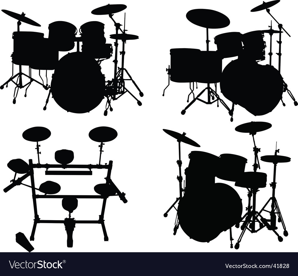 Drums kits vector | Price: 1 Credit (USD $1)