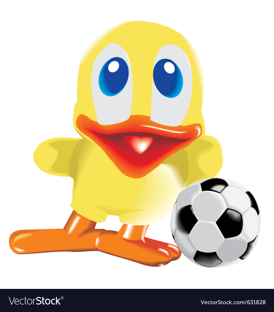 Duck with ball vector | Price: 1 Credit (USD $1)