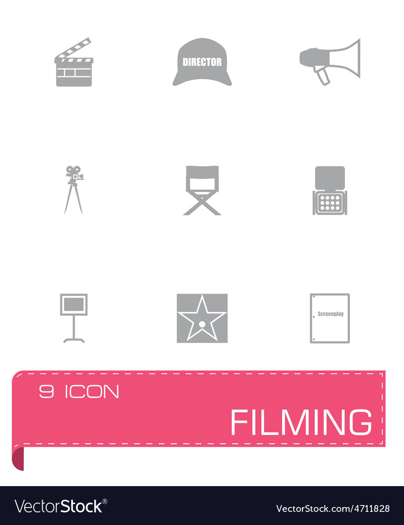 Filming icon set vector | Price: 1 Credit (USD $1)