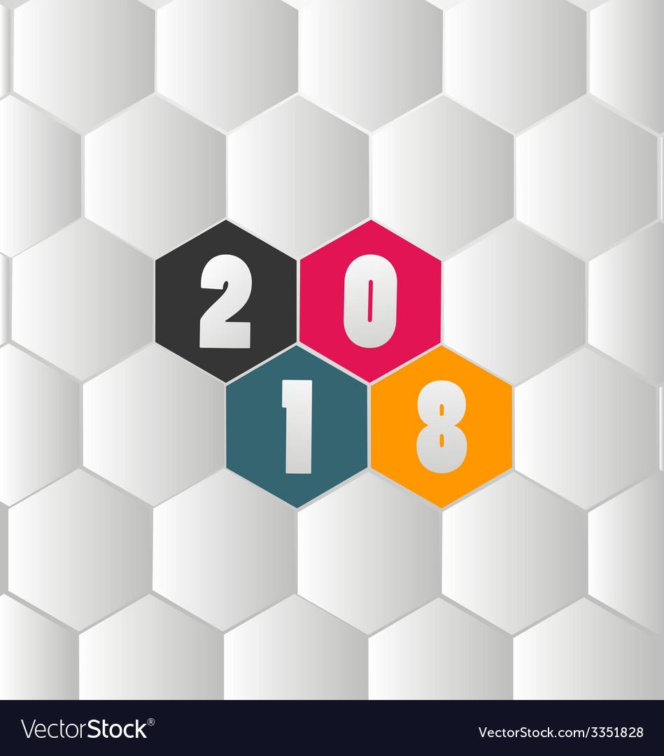 Happy new year 2018 vector | Price: 1 Credit (USD $1)