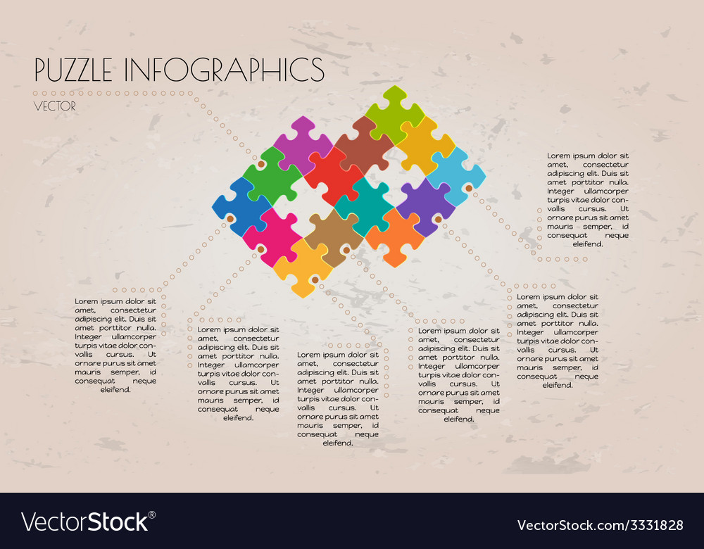 Infographic puzzle vector | Price: 1 Credit (USD $1)