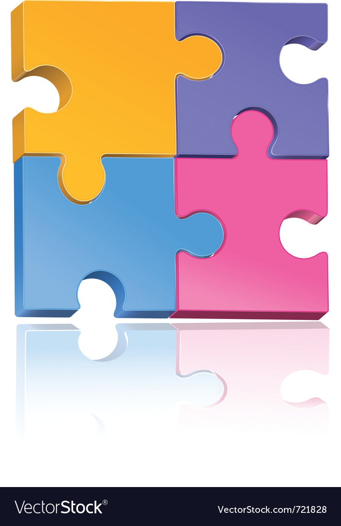 Multicolored jigsaw puzzle vector | Price: 1 Credit (USD $1)