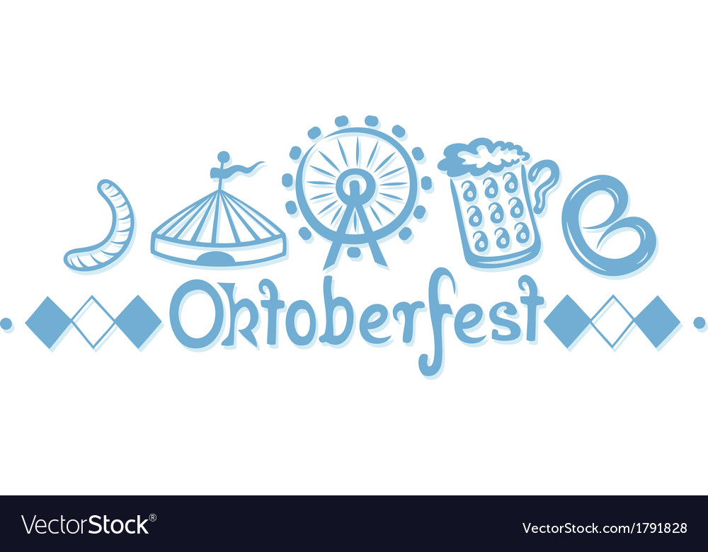 Oktoberfest border vector | Price: 1 Credit (USD $1)