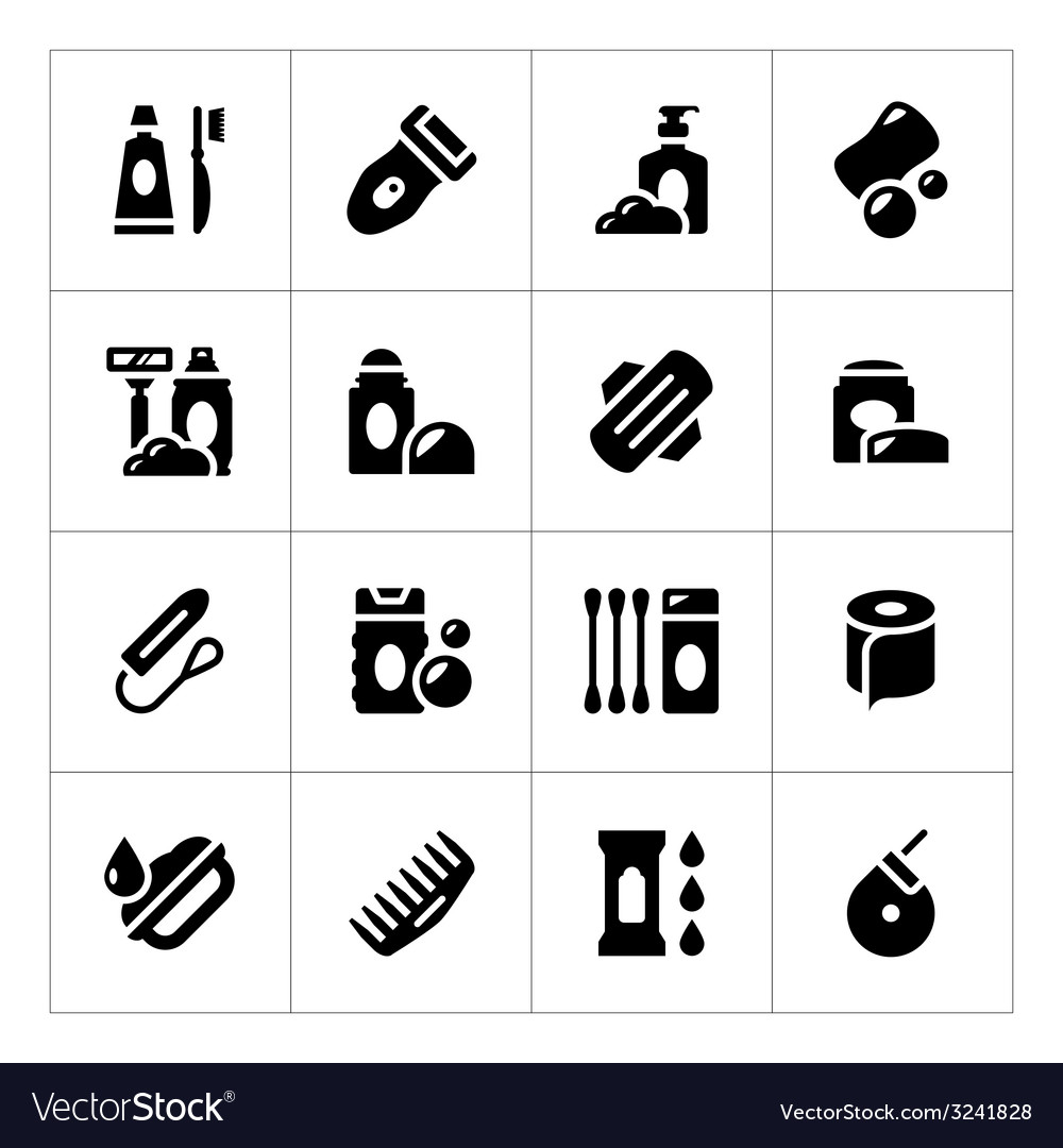 Set icons of hygiene vector | Price: 1 Credit (USD $1)