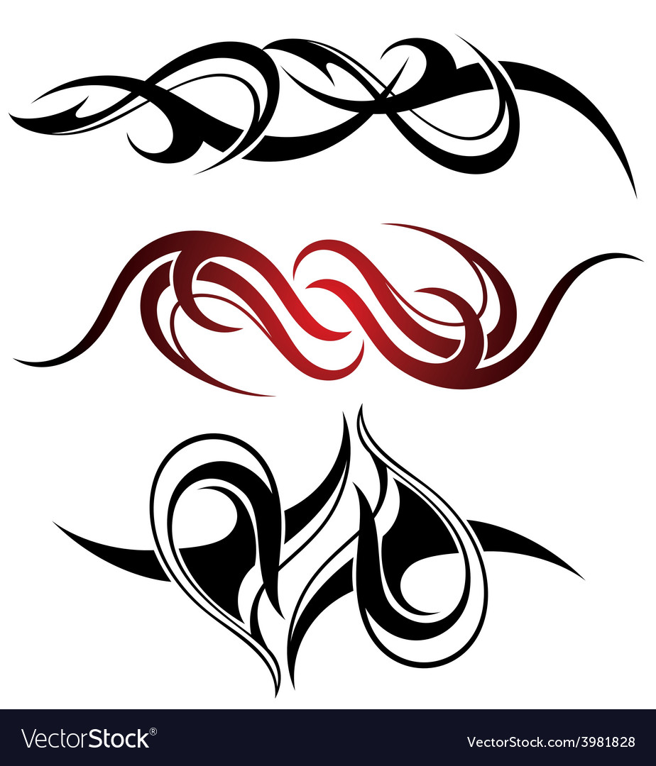 Set of 3 different tribal tattoo vector | Price: 1 Credit (USD $1)