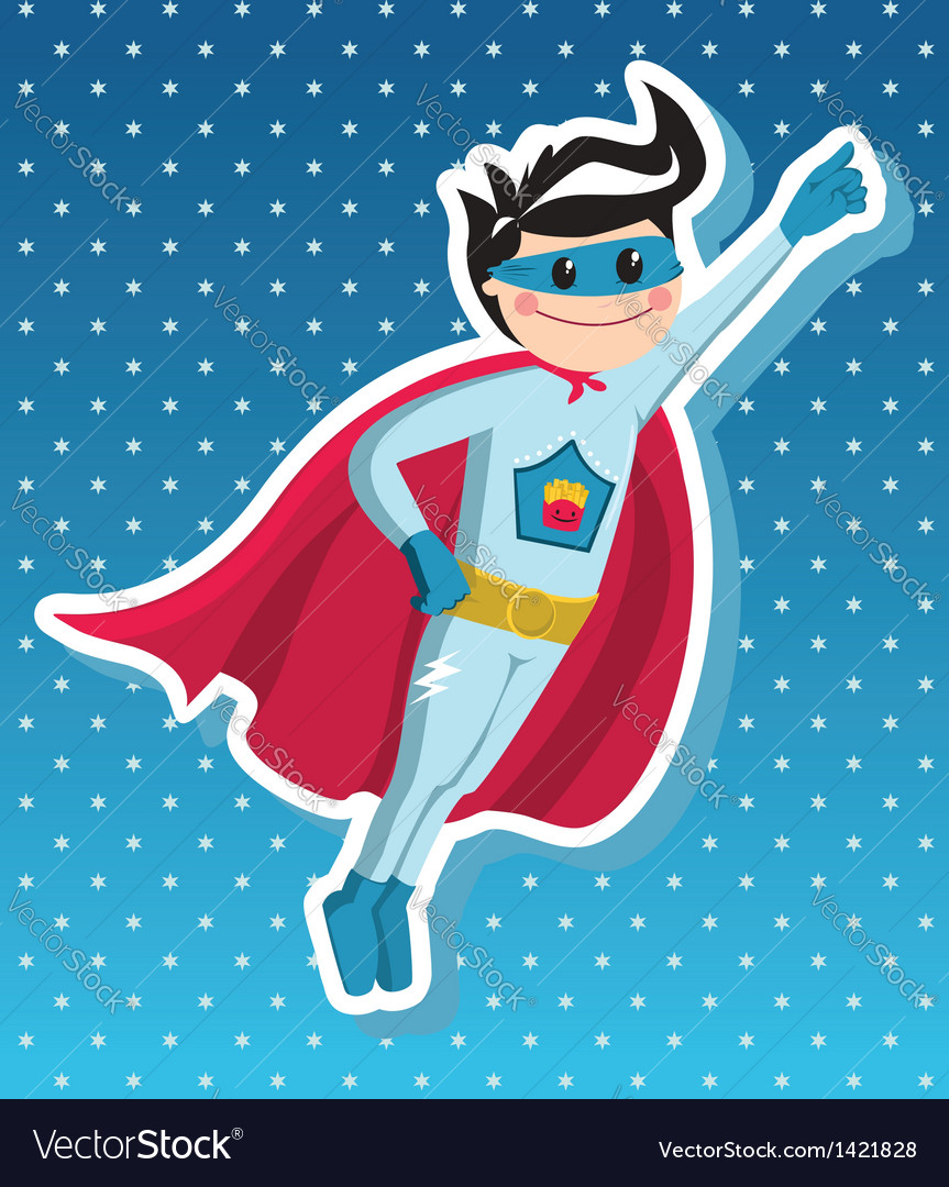 Superhero boy cartoon vector | Price: 3 Credit (USD $3)