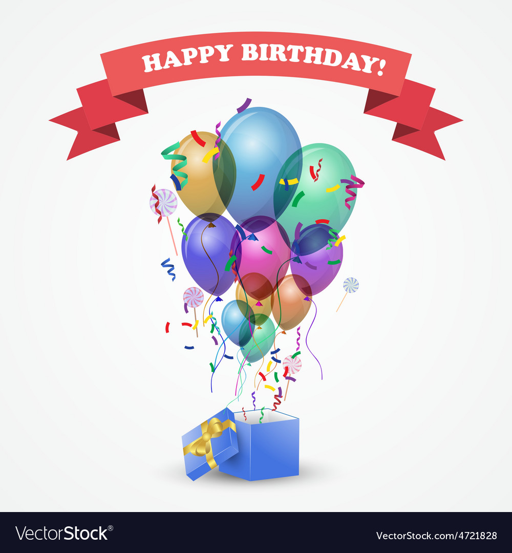Template for happy birthday card vector | Price: 1 Credit (USD $1)