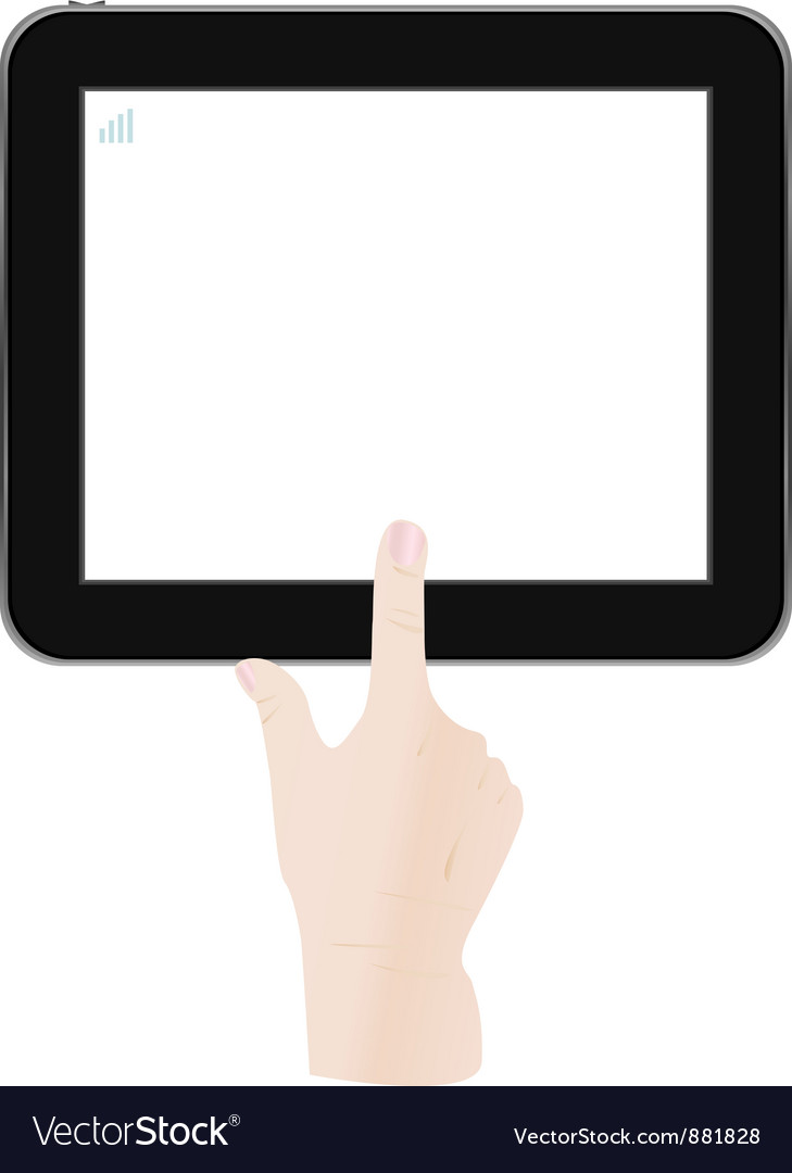White tablet pc vector | Price: 1 Credit (USD $1)