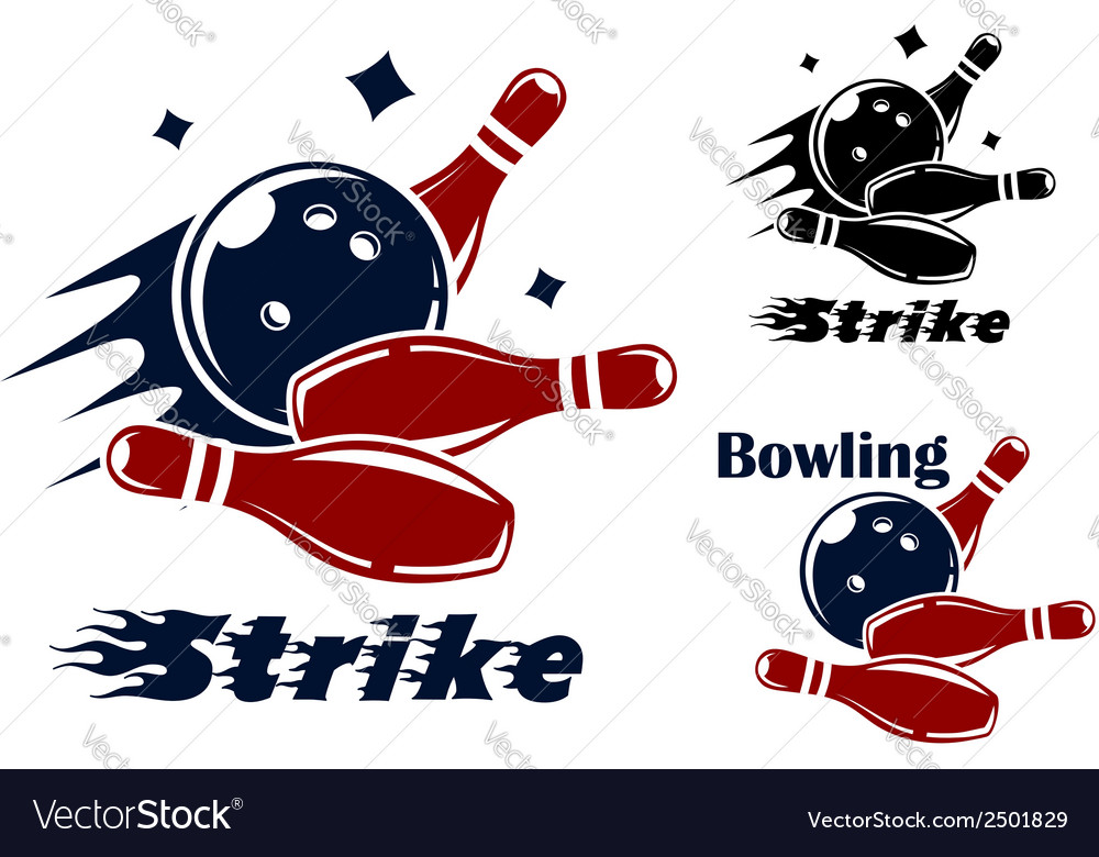 Bowling icons and symbols vector | Price: 1 Credit (USD $1)