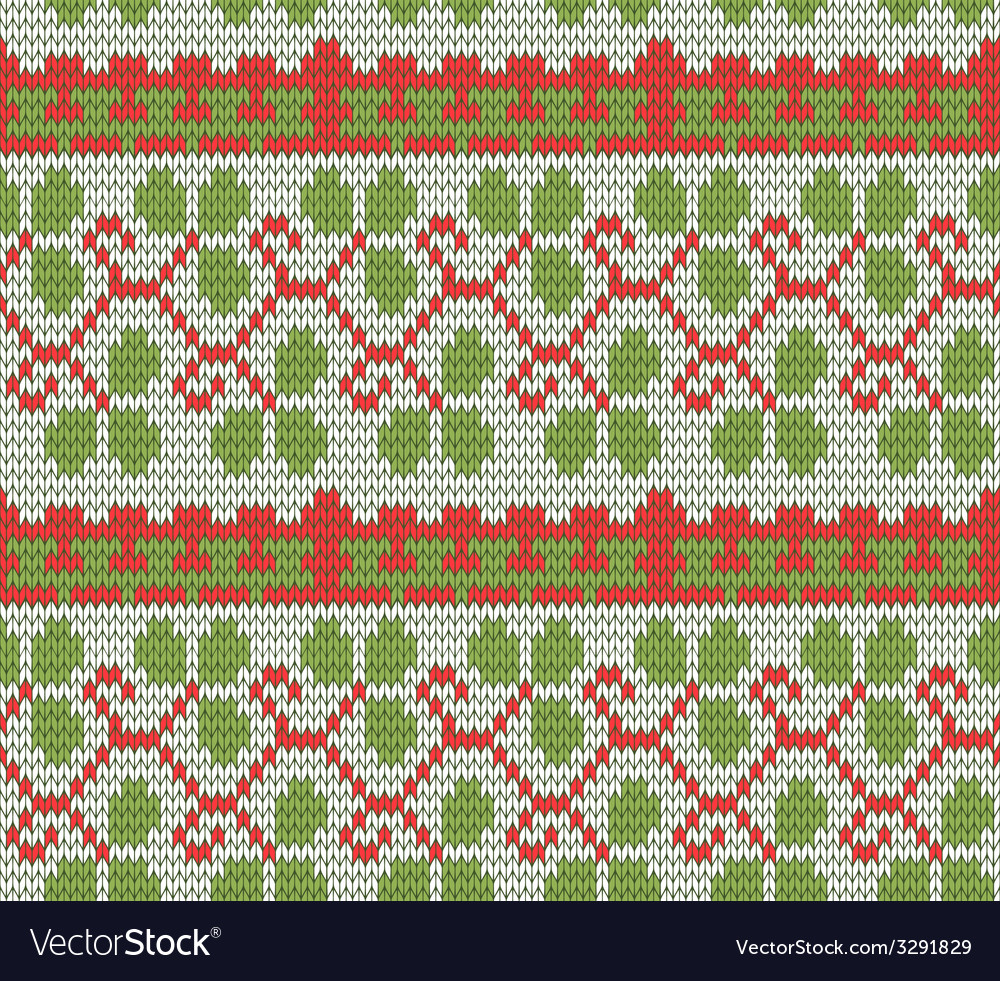 Color knitted christmas seamless pattern vector | Price: 1 Credit (USD $1)