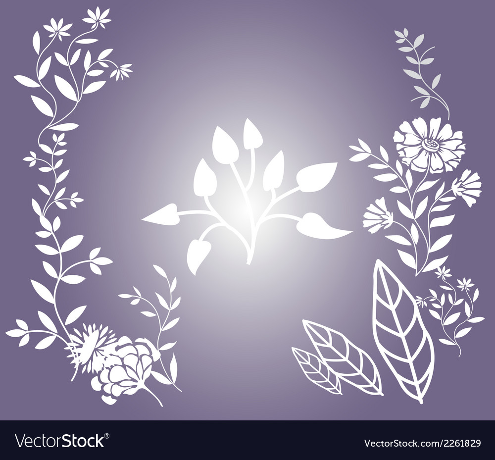 Flower floral background vector | Price: 1 Credit (USD $1)
