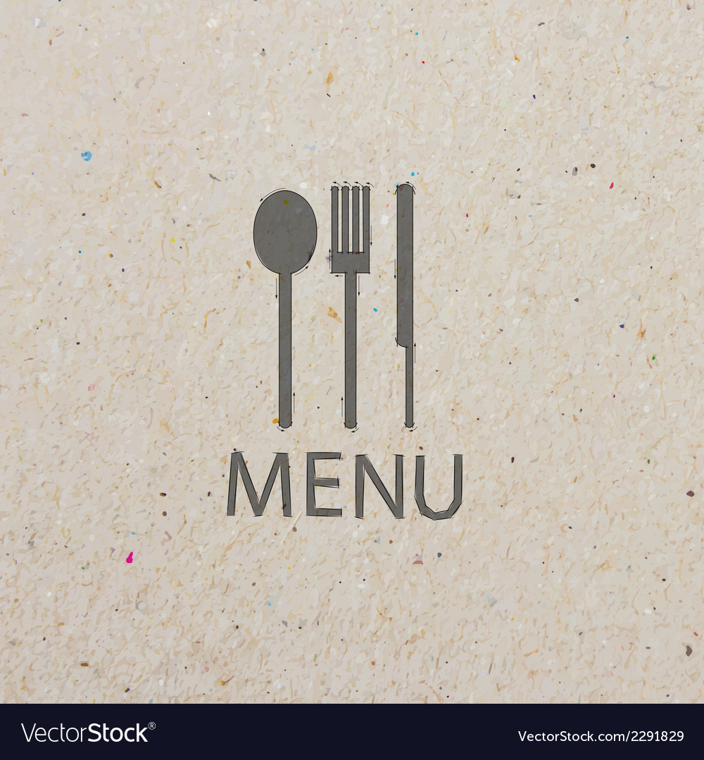 Fork and knife recycled paper stick vector | Price: 1 Credit (USD $1)