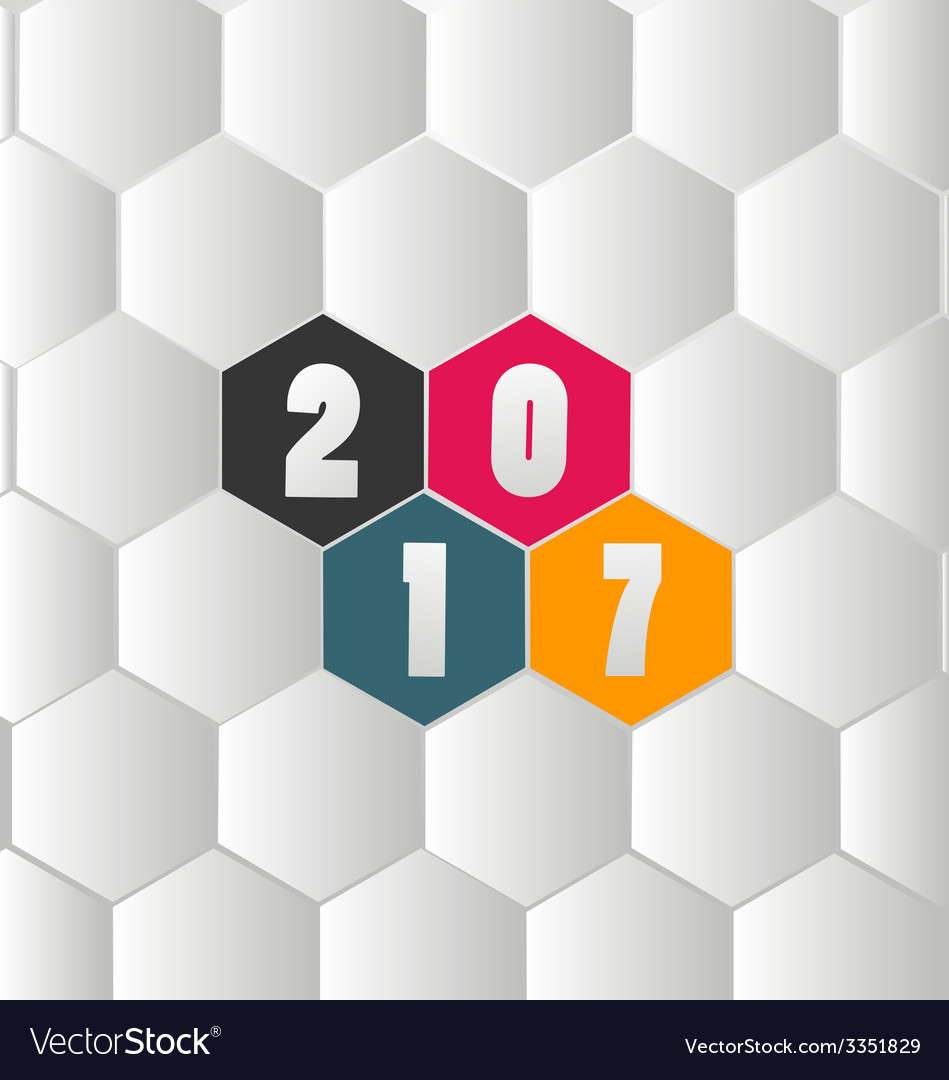 Happy new year 2017 vector | Price: 1 Credit (USD $1)