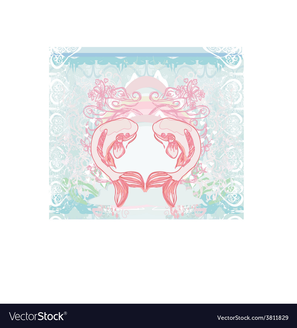 Japanese koi background vector | Price: 1 Credit (USD $1)