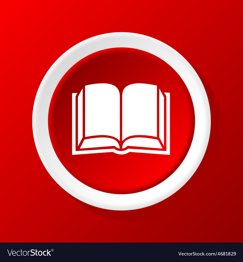 Open book icon on red vector | Price: 1 Credit (USD $1)
