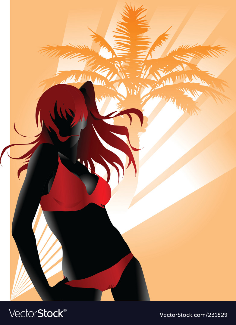 Sexy beach vector | Price: 1 Credit (USD $1)