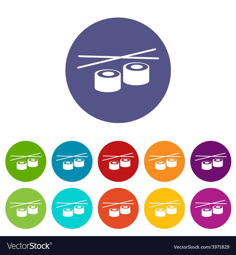 Sushi flat icon vector | Price: 1 Credit (USD $1)